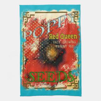Toalla de té de la semilla de amapola