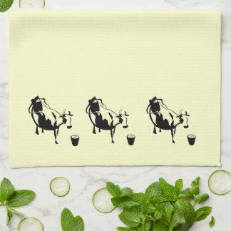 Toalla de té de la vaca de leche
