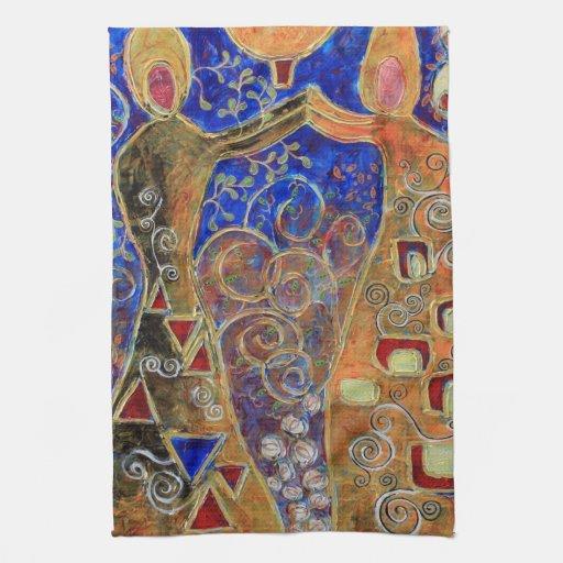 Toalla de té de los buceadores de perla (pintura)
