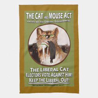 Toalla de té del acto del gato y del ratón del Suf