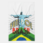 Toalla de té del fútbol de Futebol el Brasil