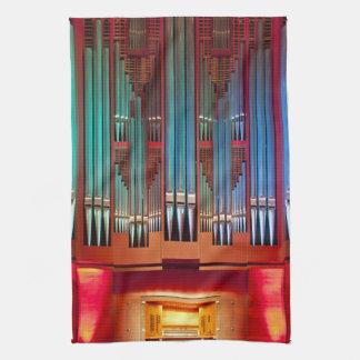 Toalla de té del órgano de ayuntamiento de Christc