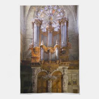 Toalla de té del órgano de la catedral de Beziers