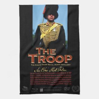 Toalla de té del poster de la película de la tropa