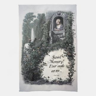 """Toalla de té del Victorian de la """"memoria dulce"""" d"""