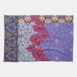 Toalla de té floral azul por KCS