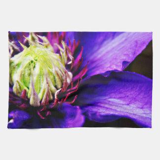 Toalla de té floral de la cocina de la flor del Cl
