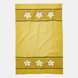 Toalla de té floral de la cocina de MoJo del oro