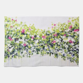 Toalla de té floral verde del verano
