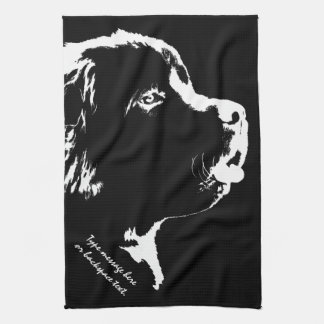 Toalla de té personalizada toalla del perro de Ter