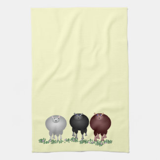 Toalla de tres ovejas