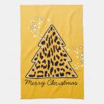 Toalla del árbol de navidad del guepardo del leopa