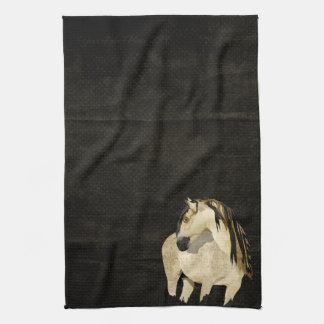 Toalla del caballo blanco