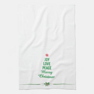 Toalla del navidad con el árbol de navidad