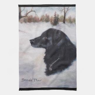 Toalla del retrato del perro de Actune