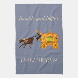 Toalla humilde de Halloween del carro de la