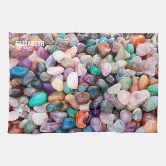 Toalla natural colorida de las piedras preciosas