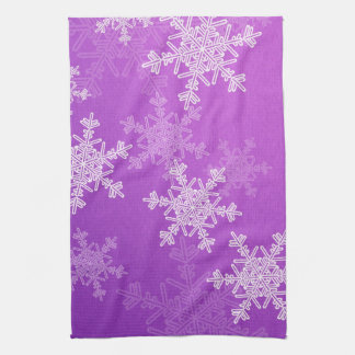 Toalla púrpura del navidad de los copos de nieve