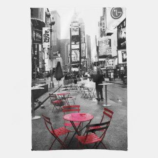 Toalla roja blanca negra del Times Square