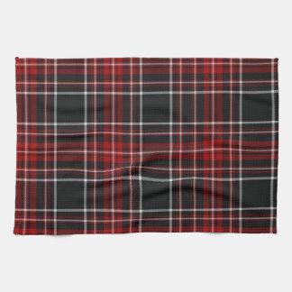 Toalla roja del tartán de la tela escocesa