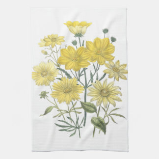 Toallas amarillas de los Wildflowers de las margar