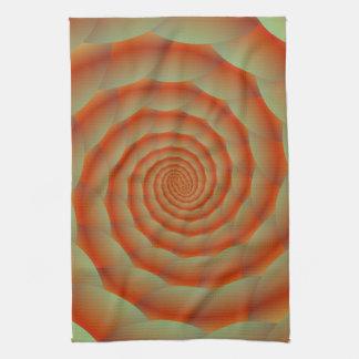 Toallas anaranjadas del espiral de la piel de