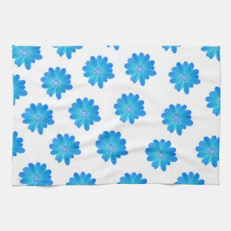 Toallas azules de la flor