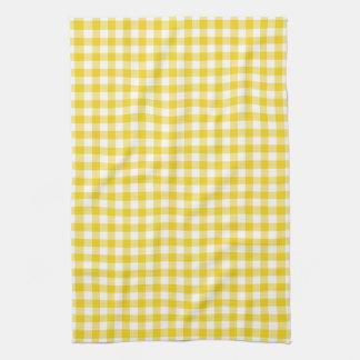 Toallas de cocina amarillas limón del modelo de la
