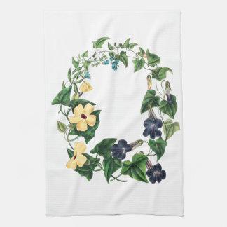Toallas de cocina botánicas florales de las flores