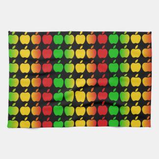 Toallas de cocina coloridas de las manzanas