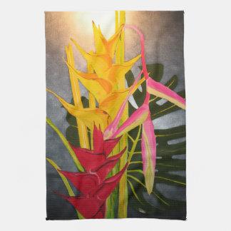Toallas de cocina de acrílico tropicales de la pin