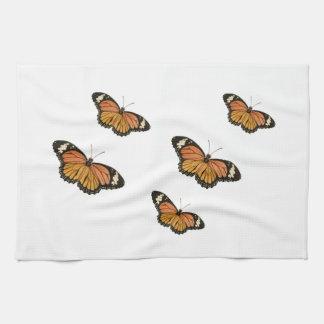 toallas de cocina de la mariposa de monarca