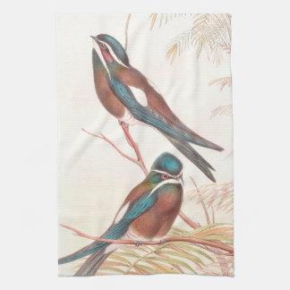 Toallas de cocina de los pájaros del trago de