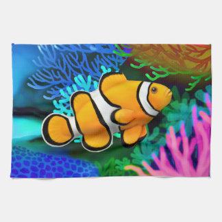 Toallas de cocina de Percula Clownfish del arrecif