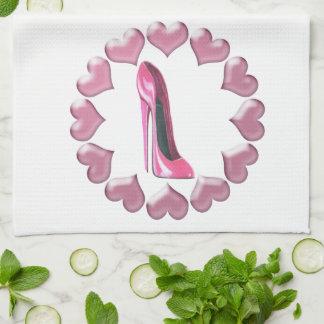 Toallas de cocina del arte del zapato del estilete