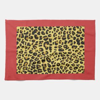 Toallas de cocina del estampado leopardo