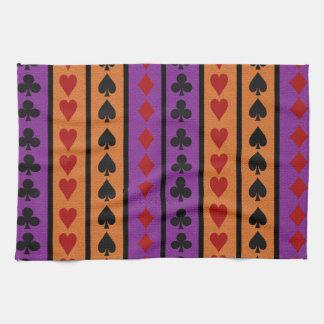 Toallas de cocina del jugador de tarjeta