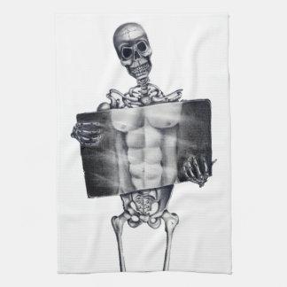 Toallas de cocina esqueléticas de la radiografía d