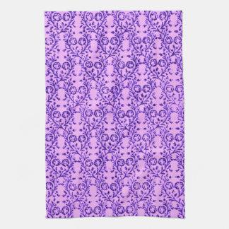 Toallas de cocina florales de la lavanda del vinta