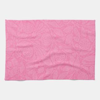 Toallas de cocina florales del rosa color de rosa