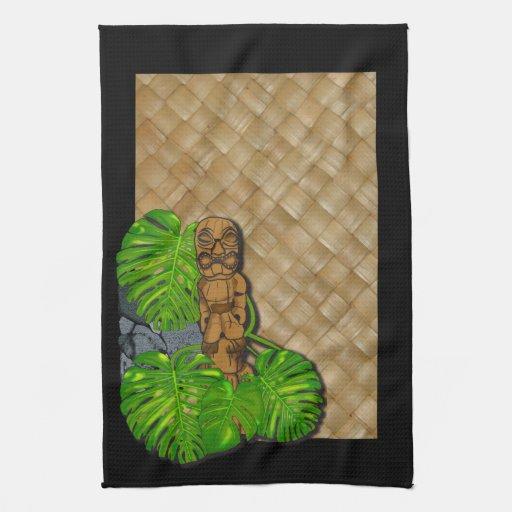 Toallas de cocina hawaianas de Tiki Lauhala 2