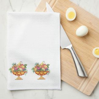 Toallas de cocina - mosaico italiano - florero de