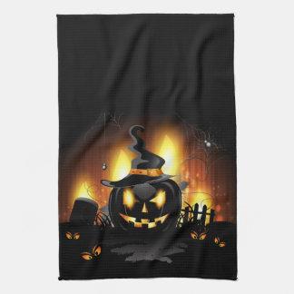 Toallas de cocina negras amenazadoras de Halloween