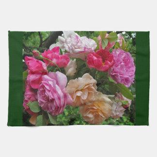 Toallas de cocina pasadas de moda de los rosas
