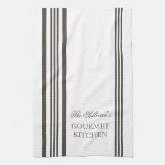 Toallas de cocina personalizadas raya francesa del