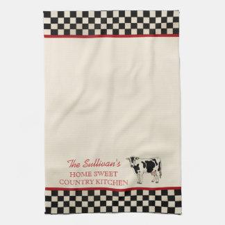 Toallas de cocina personalizadas vaca comprobadas