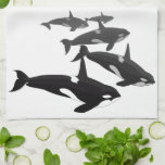 Toallas de plato de la orca de la toalla de la bal