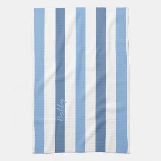 Toallas de té conocidas de las rayas azules