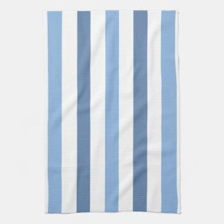Toallas de té de las rayas azules
