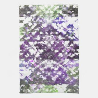 Toallas de té suaves florales de las púrpuras del